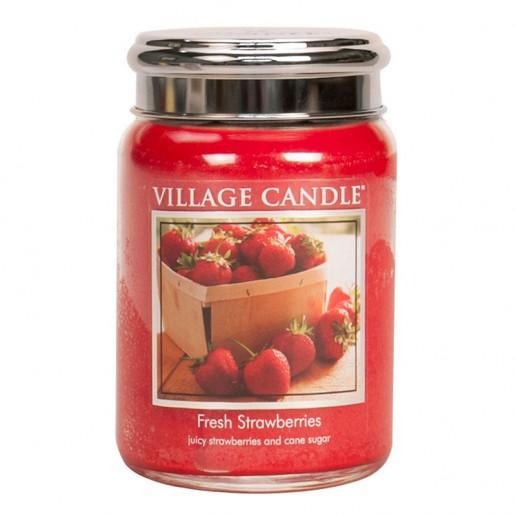 Fresh Strawberries - Village Candle Large Jar
