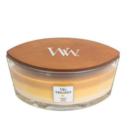 Fruits Of Summer - WoodWick Trilogy Ellipse with lid