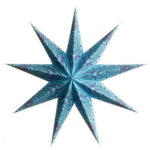 'Ganesh' Blue - Large Paper Star Light