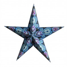 'Ganesha' Blue - Large Paper Star Light