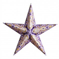 'Ganesha' Purple - Large Paper Star Light