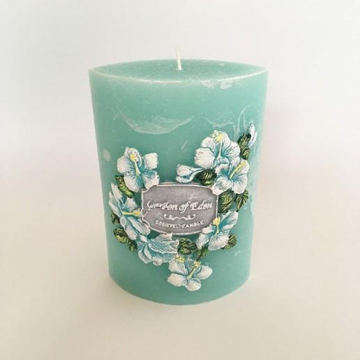 Garden Elipse Handmade Candle - Garden of Eden without cellophane