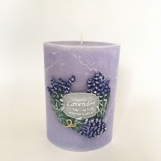 Garden Elipse Handmade Candle - Lavender without cellophane