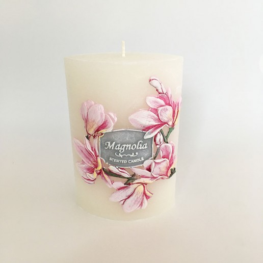Garden Elipse Handmade Candle - Magnolia without cellophane