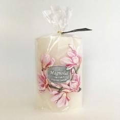 Garden Elipse Handmade Candle - Magnolia