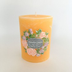 Garden Elipse Handmade Candle - Paradise Garden without cellophane