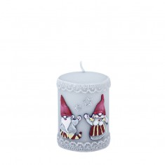 Gnomes Grey Small Pillar Candle