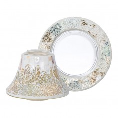 Gold & Pearl L shade & plate