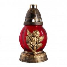 grave lanterns angel red