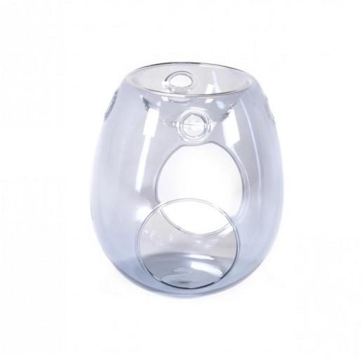Grey - Clear Glass Wax Melt Warmer
