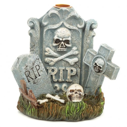 Halloween RIP Tombstone Backflow Incense Cone Burner