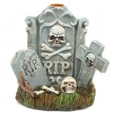 Halloween RIP Tombstone Backflow Incense Cone Burner