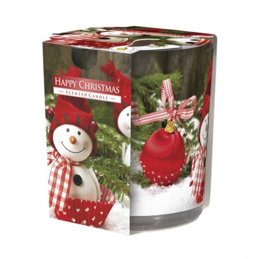 Happy Christmas - Scented Candle in Glass