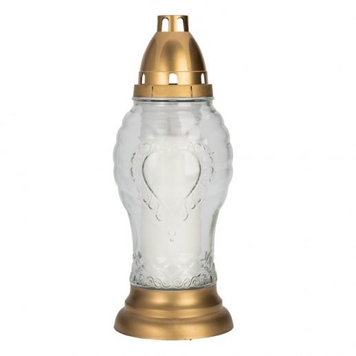 Hart Tall Grave Lantern Clear