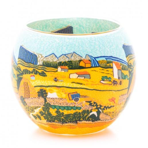 Harvest - Glowing Globe Glass Tea Light Candle Holder