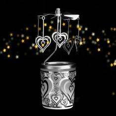 Heart - Spinning Tea Light Candle Holder