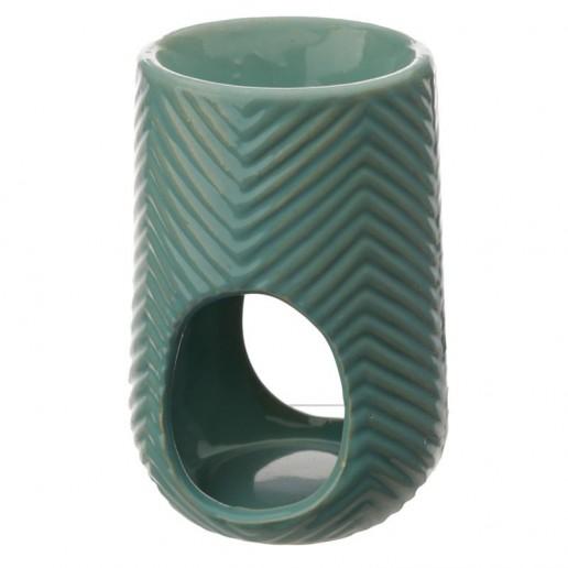 Herring Bone Wax Melt Burner Aqua