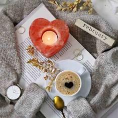 Himalayan Salt Tea Light Candle Holder - Heart lifestyle