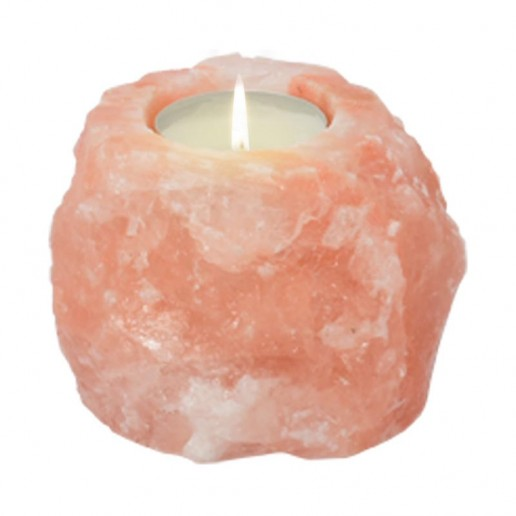 Himalayan Salt Tea Light Candle Holder - Natural Shape 0.7kg