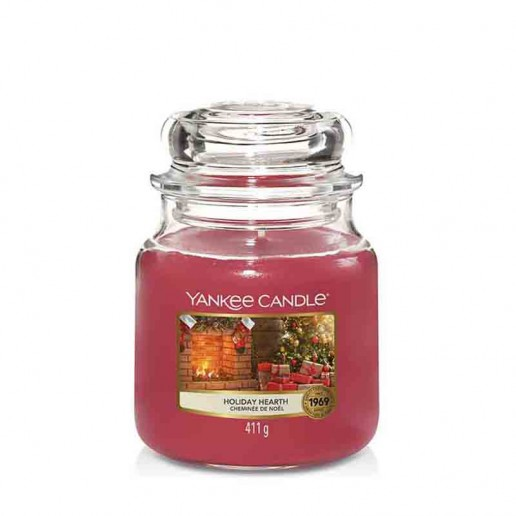 Holiday Hearth - Yankee Candle Medium Jar