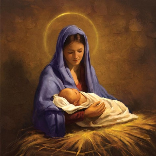 Holy Mary and Baby Jesus - 8 SVP Charity Christmas Cards.jpg