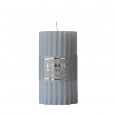 Homely Grey - Large Scented Grooved Pillar Candle