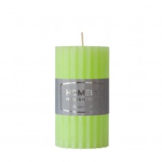 Homely Light Green - Large Scented Grooved Pillar Candle