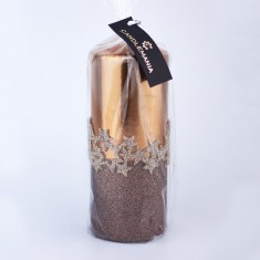Ice Star Copper Large Pillar Candle wrapped