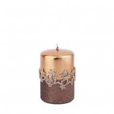 Ice Star Copper Small Pillar Candle