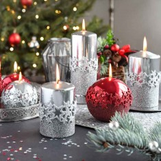Decorative Silver Candles