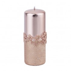 Ice Star Rose Gold Large Pillar Candle