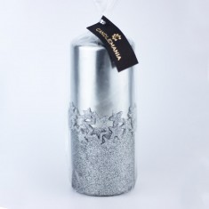 Ice Star Silver Large Pillar Candle wrapped