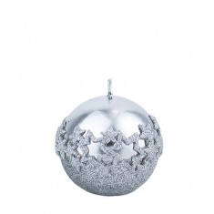 Ice Star Silver Sphere Candle