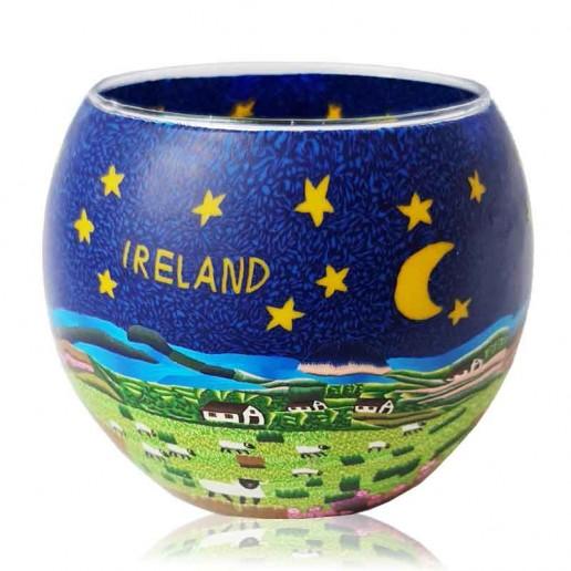 Ireland - Glowing Globe Glass Tea Light Candle Holder