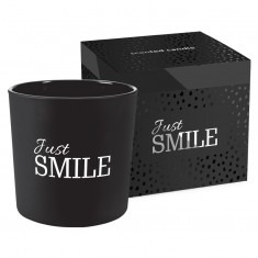 Just Smile - Scented Candle in Glass with box