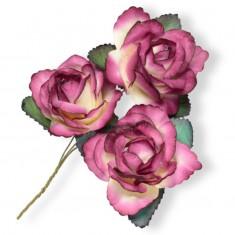 Large Paper Rosebud - Fuchsia linked