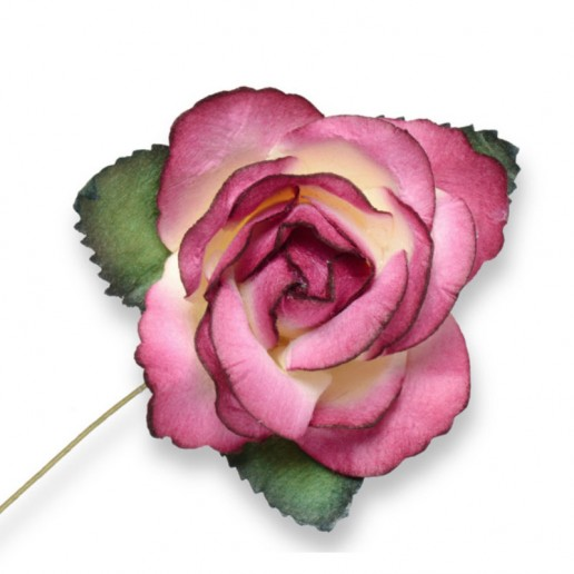Large Paper Rosebud - Fuchsia