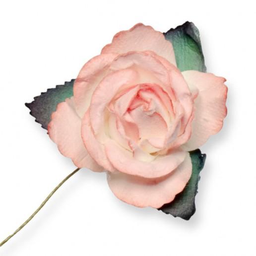 Large Paper Rosebud - Peach