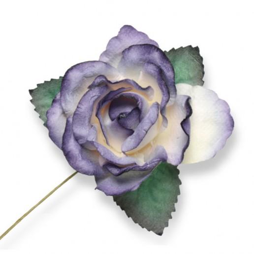 Large Paper Rosebud - Purple