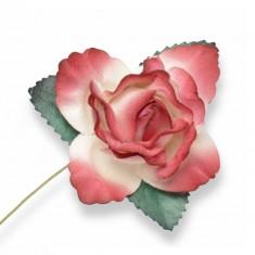 Large Paper Rosebud - Red
