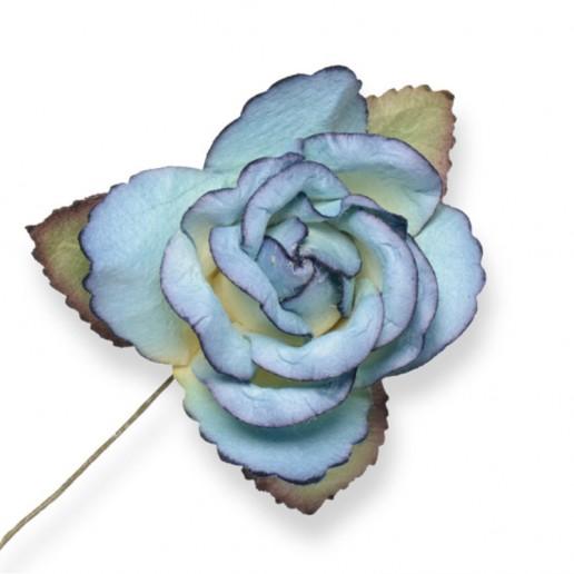 Large Paper Rosebud - Royal Blue