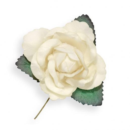 Large Paper Rosebud - White-Ivory