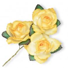 Large Paper Rosebud - Yellow linked