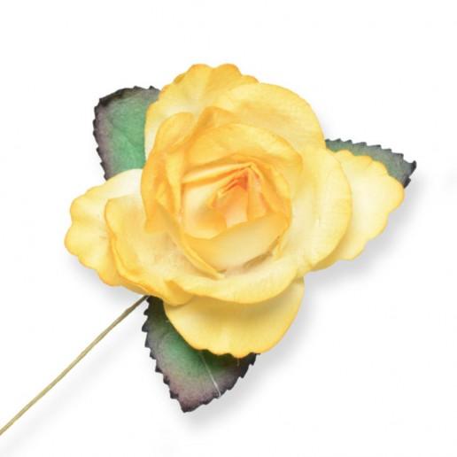 Large Paper Rosebud  - Yellow