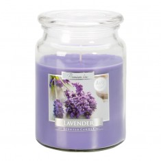 Lavender Scented Candle In Large Glass Jar
