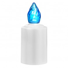 LED Battery - Operated Candle - Blue Flame Lit