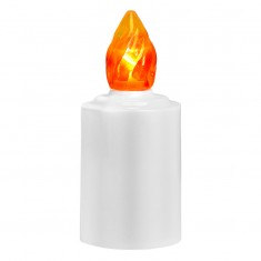 LED Battery - operated Candle - Orange Flame Lit