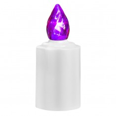 LED Battery - operated Candle - Purple Flame Lit
