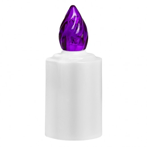 LED Battery - operated Candle - Purple Flame