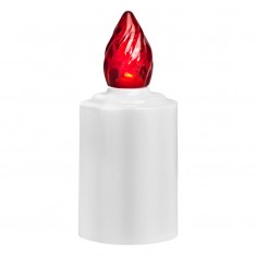 LED Battery - Operated Candle - Red Flame Lit